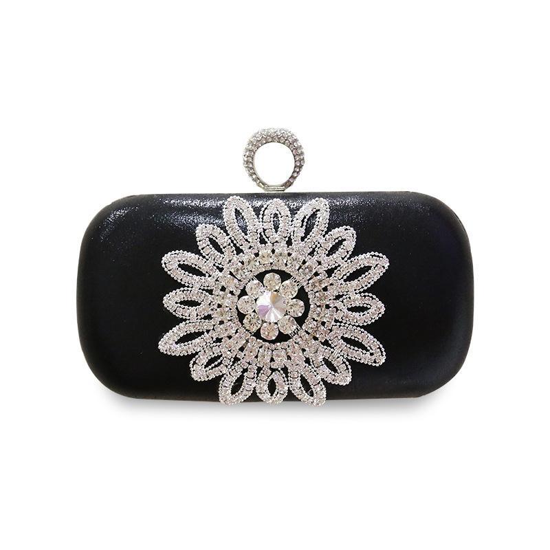 ca0d6299502 Famous Brand Women HandbagscCrystal Evening Purse Metal Clutches ...