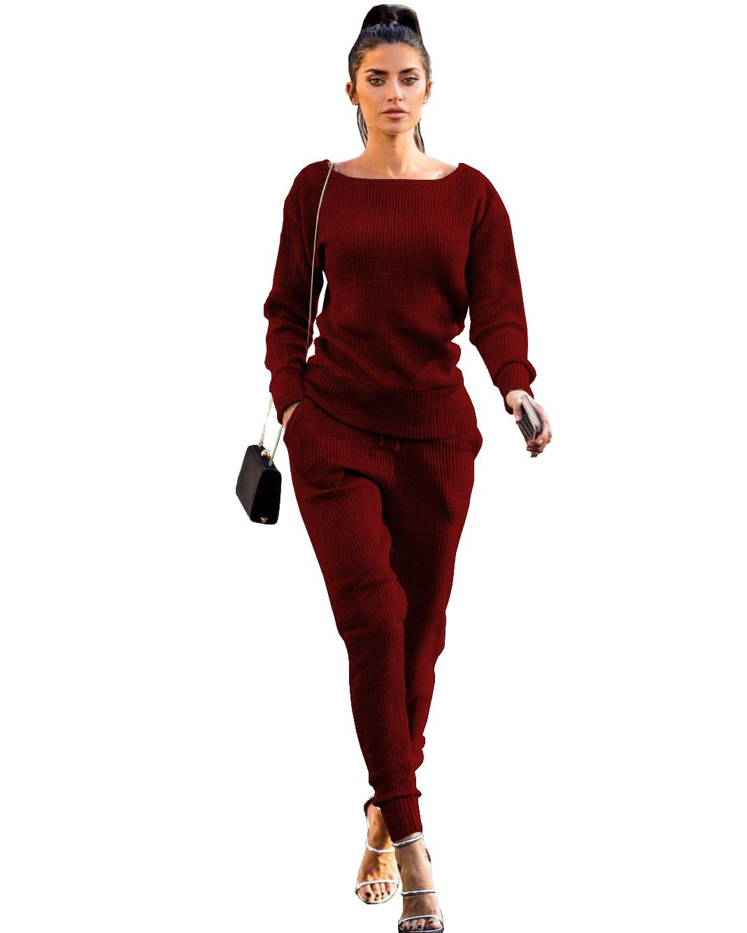 NEW Red Velvet Tracksuit Two Piece Set Women Sexy Pink Long Sleeve Top+  Pants Bodysuit Suit Runway Fashion Trainingspak Vrouwen UK 2019 From  Pingpo 173c18f1ffba