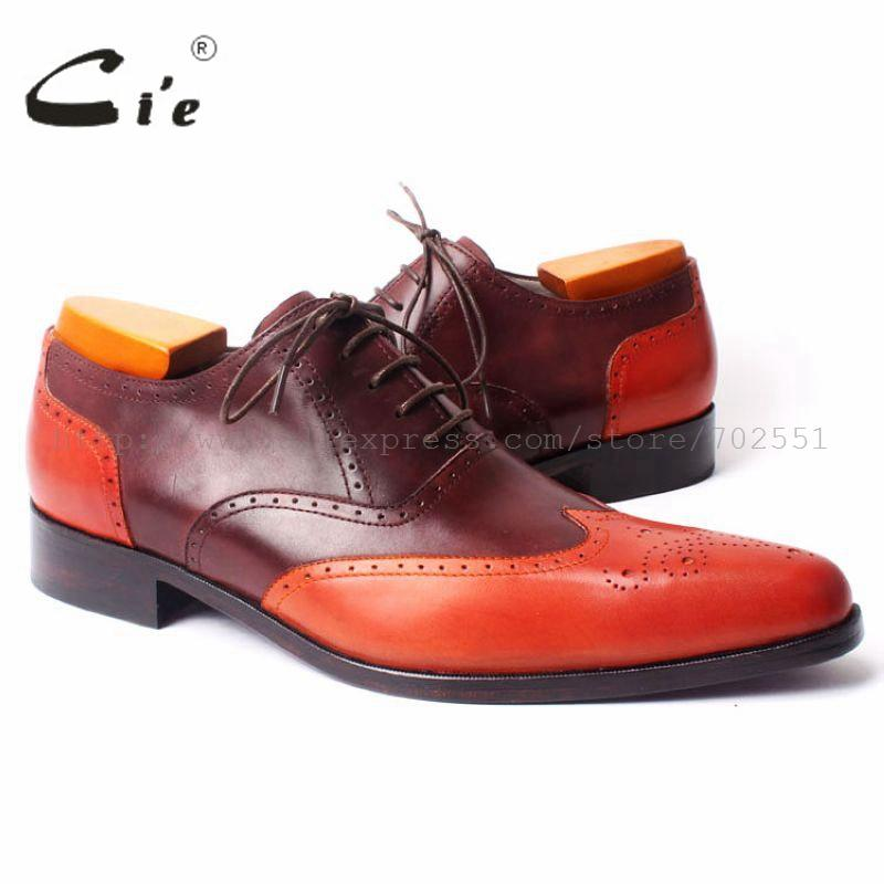 Cie Full Brogues 100% Genuine Calf Leather Handmade Men s Pointed ... f958a86b64d3