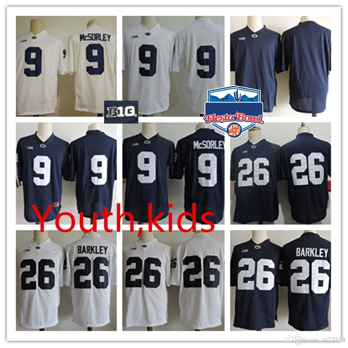1846df38f Youth Penn State Nittany Lions Trace McSorley College Football Jerseys Kids  NCAA  26 Saquon Barkley PSU Lions Fiesta Bowl Football Jersey Trace McSorley  ...