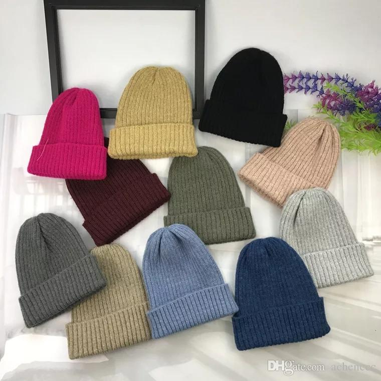 3c68292eb Women s hat autumn winter knitted simple mixed color pointed sweater hat  Korean version of the female students warm mohair edge ruffle hat