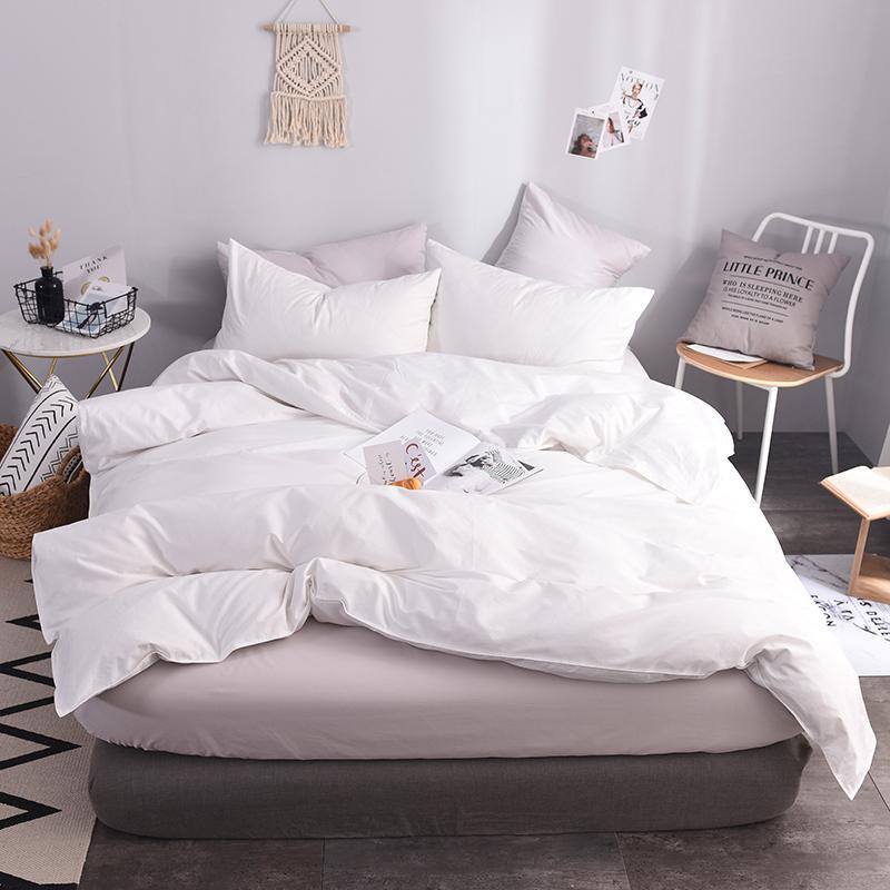 Großhandel Pure White Hotel Apply Bettwäsche Heimtextilien Bettbezug