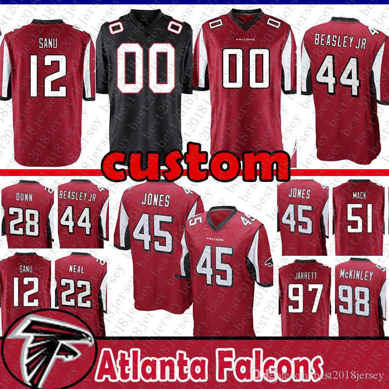 reputable site 4cd8a f611d 12 Mohamed Sanu Custom Jersey Atlanta Falcons 97 Grady Jarrett 51 Alex Mack  26 Tevin Coleman 17 Devin Hester Deion Jones Beasley Bryant 51
