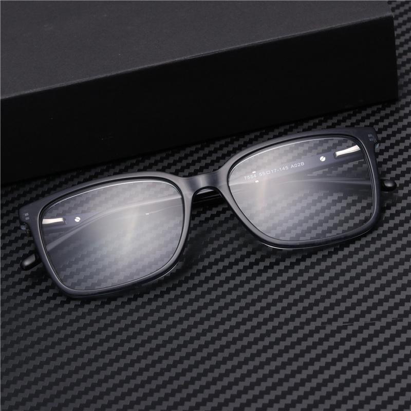38f8f847c4e1 2019 Men Square Acetate Optical Glasses Frame Clear Blue Reading Computer  Grade Eyewear GP7554 From Bojiban