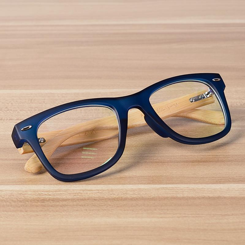 6be808d3924 2019 NOSSA Handmade Bamboo Clear Frame Glasses Women And Men S Classic Myopia  Prescription Eyewear Frames Wood Retro Blue Eyeglasses From Greenparty