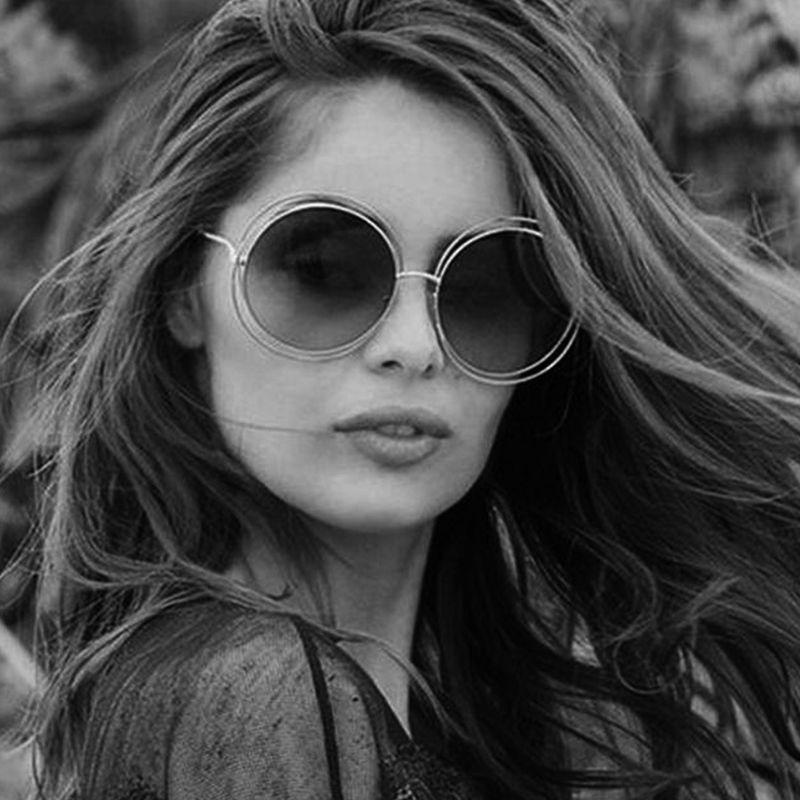07c19daa51488 Compre Janio Mais Recente Moda Carlina Rodada Wire Frame Óculos De Sol 2018  Nova Moda Vintage Óculos De Sol Das Mulheres Designer De Marca J 017 De  Bella03