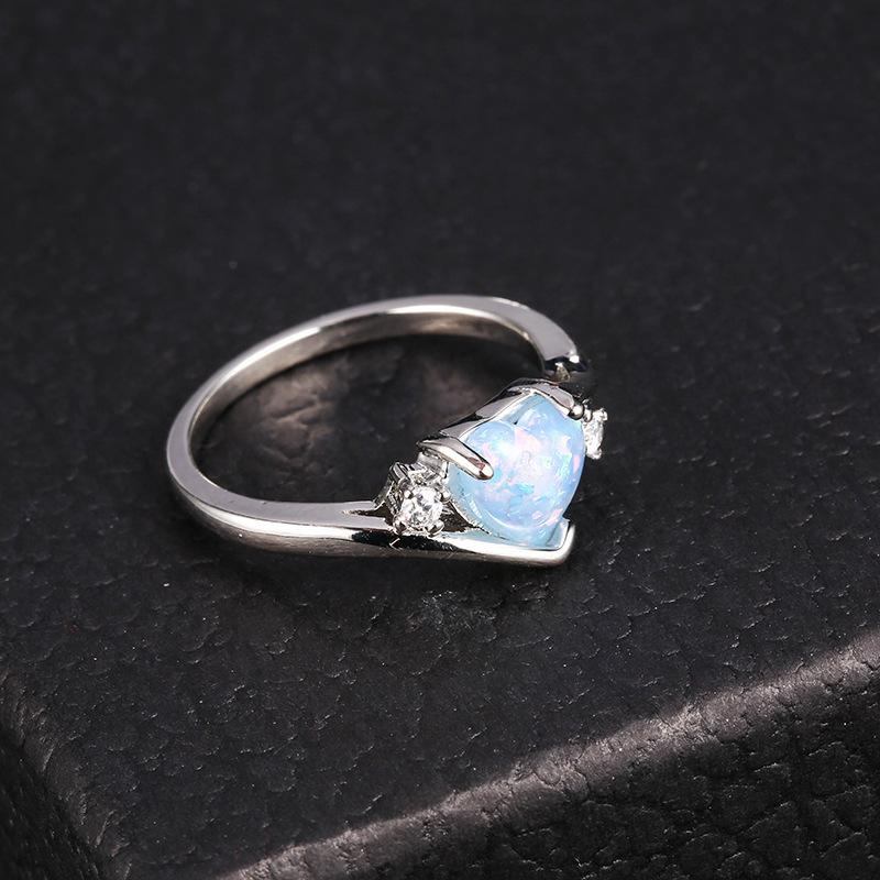 f6cd6d2f92 Fashion Heart Love White Fire Opal Ring For Woman Gifts Wedding Engagement  Statement Ring Size 6 7 8 9 10 Engagement Rings Cheap Engagement Rings  Fashion ...