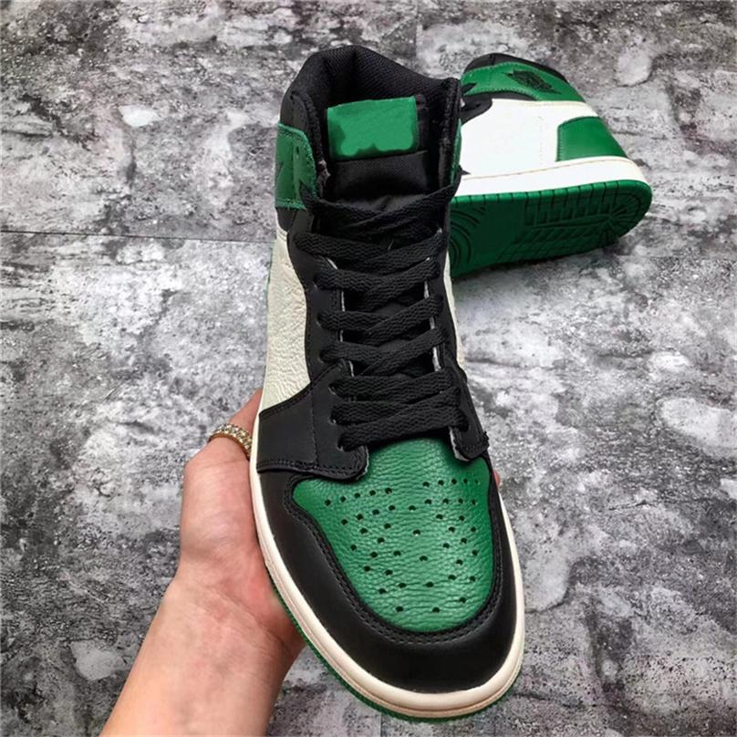 0569399f25d6 2019 2018 New 1 High OG Pine Green Court Purple 1S Basketball Shoes For Men  Authentic Quality 555088 302 Athletic Sports Sneakers With Box From  Lovingshop