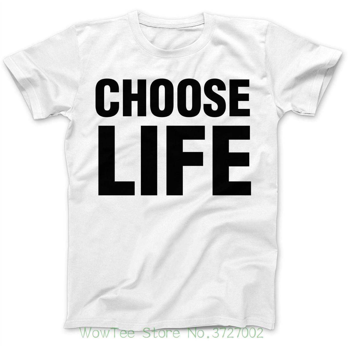 51f3499d Choose Life 80's Iconic Music Costume Party Dress Up Fun Retro Wham T-shirt  T Shirt Summer Famous Clothing
