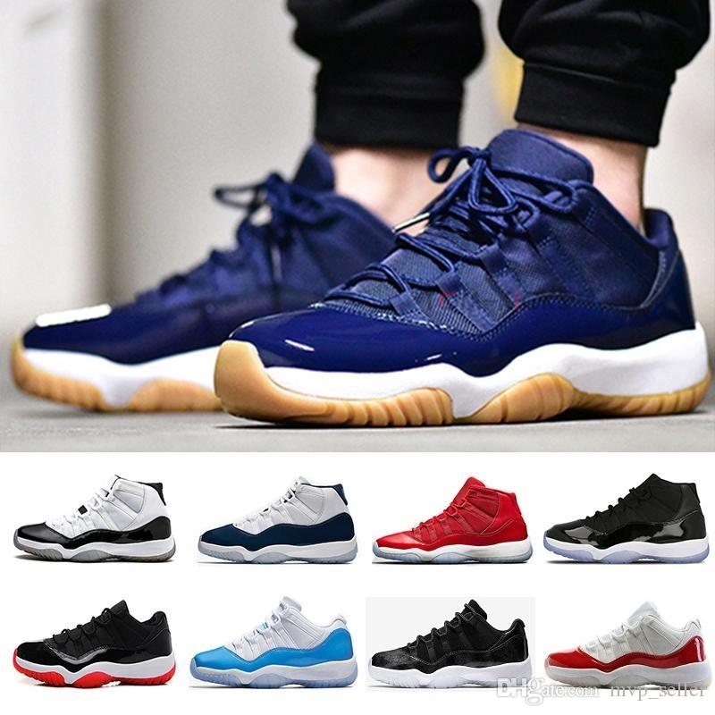 dcef417f778eb3 11 Gym Red Chicago Midnight Navy WIN LIKE 96 UNC Space Jam Mens Basketball  Shoes 11s Athletic Sport Sneakers Boys Basketball Shoes Cp3 Shoes From  Mvp seller ...