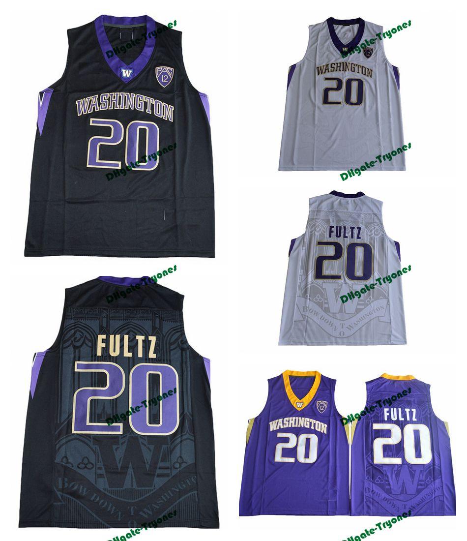 4ac652212 Mens Washington Huskies Markelle Fultz 20 College Basketball Jersey Black  White Purple Markelle Fultz University Stitched Jerseys S XXXL Canada 2019  From ...