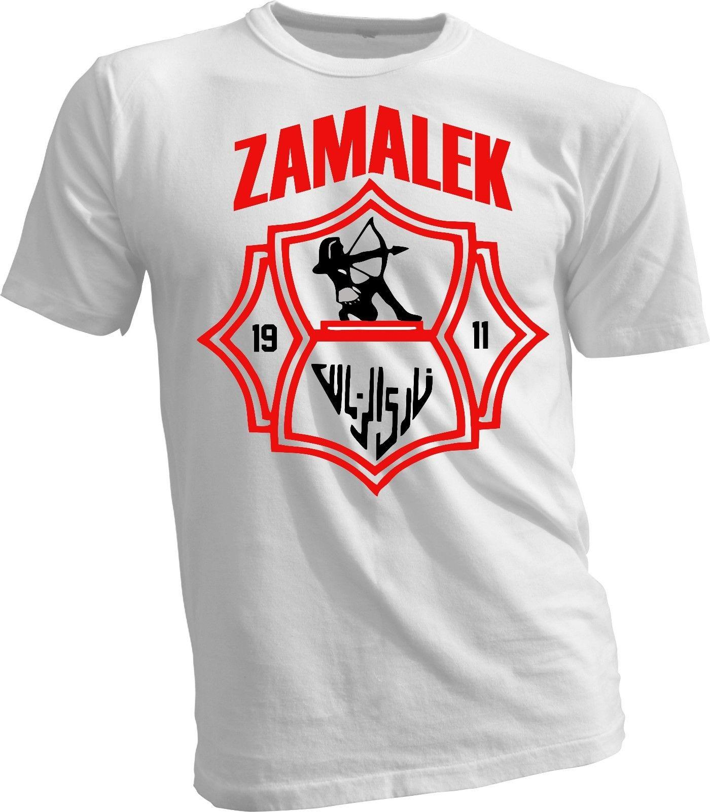 93eb7b2e4 Zamalek Sporting Club Of Egypt Football Soccer T Shirt Tee Unisex New  Handmade Funny Unisex Casual Gift Design Tee Shirts T Shirt Funny From  Superstartees