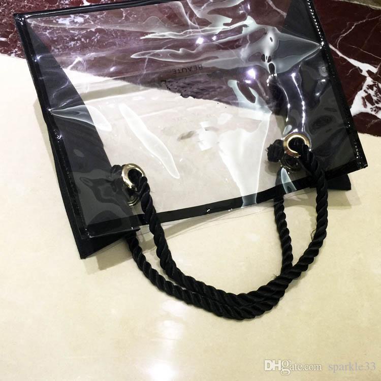 Moda C Kadınlar Kozmetik Yıkama Çanta Makyaj Saklama Torbaları Marka Kılıfı Taşınabilir Seyahat Şeffaf Ekleme Su Geçirmez Çanta VIP Hediye