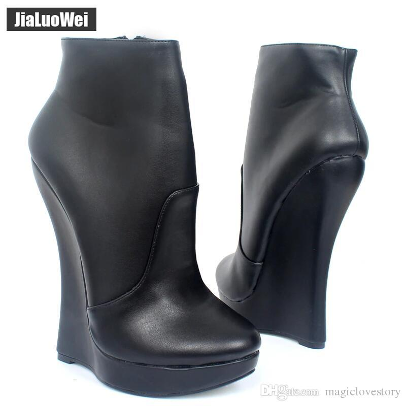 ba5f7f704a7e Fetish Stallion Hoof Sole Women Wedges Ankle Boots With Zip BDSM Platform  Runway Rock Star Night Club Shoes Goth Punk High Heel Boot Womens Boots  Boots Uk ...