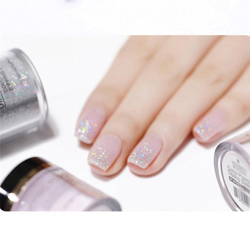 10ml Nail Art Glitter Dipping Powder Nail Art Polymer Acrylic Powder