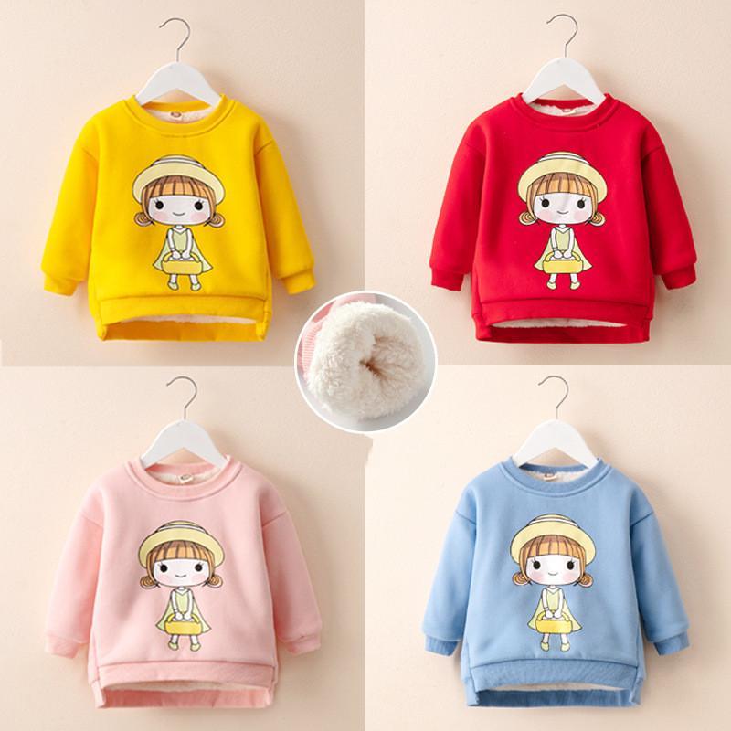 edcc9a0a3 ExactlyFZ Girls Sweater Winter Warm Cotton Plus Velvet Outerwear ...