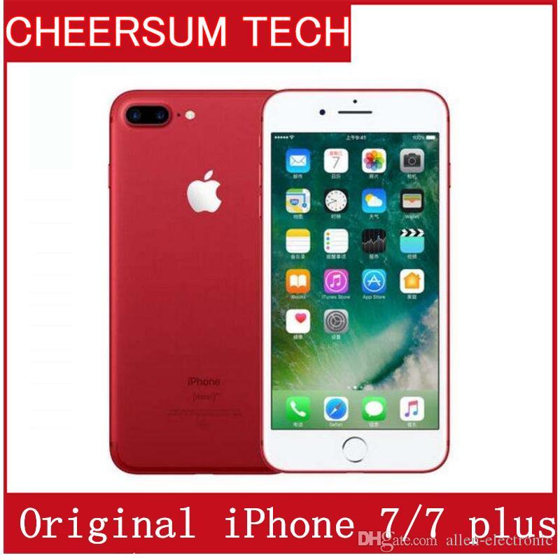 8e579fe081c Precios Moviles Libres 2017 100% Original Apple IPhone 7/7 Más Ios10 Quad  Core 2GB RAM 32GB 128GB 256GB ROM 12.0MP 4K Video 4G Teléfono Móvil  Celulares 3g ...