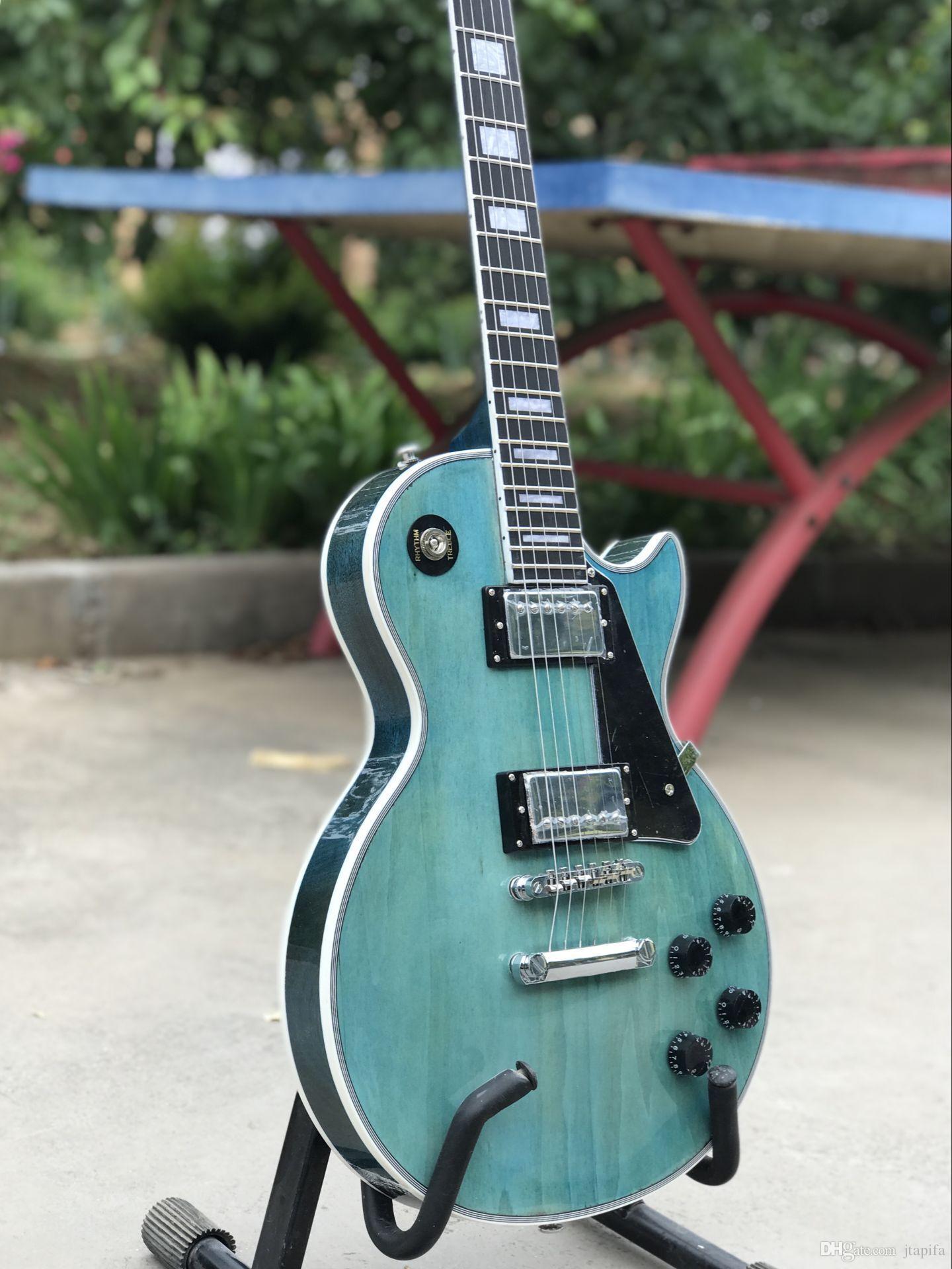 Custom Shop Light Blue Electric Guitar Alvarez Electric Guitar