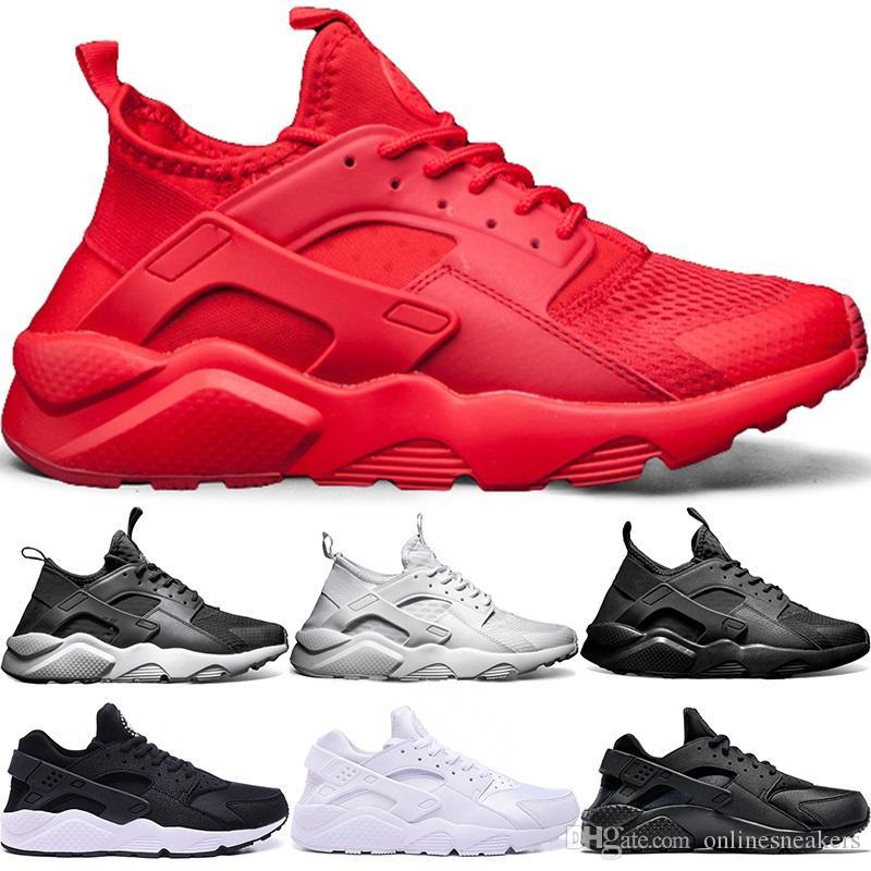 de05b730f5 Compre Nike Air Huarache Ultra Running Shoes 4.0 1.0 Homens Mulheres Triplo  Branco Núcleo Preto Vermelho Huaraches Mens Tênis Esportivos Esportes  Tamanho 36 ...