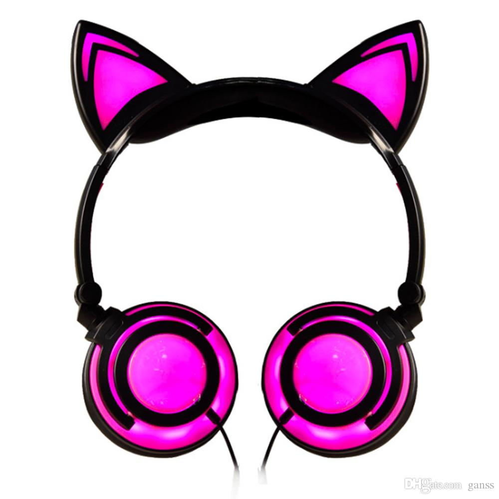 f6e56d9b32c Foldable Wired Over Ear Kids Headphone With Glowing LED Light For Girls  Children Cosplay Fans Cat Ear Headphones Best Dj Headphones Best Gaming  Headphones ...