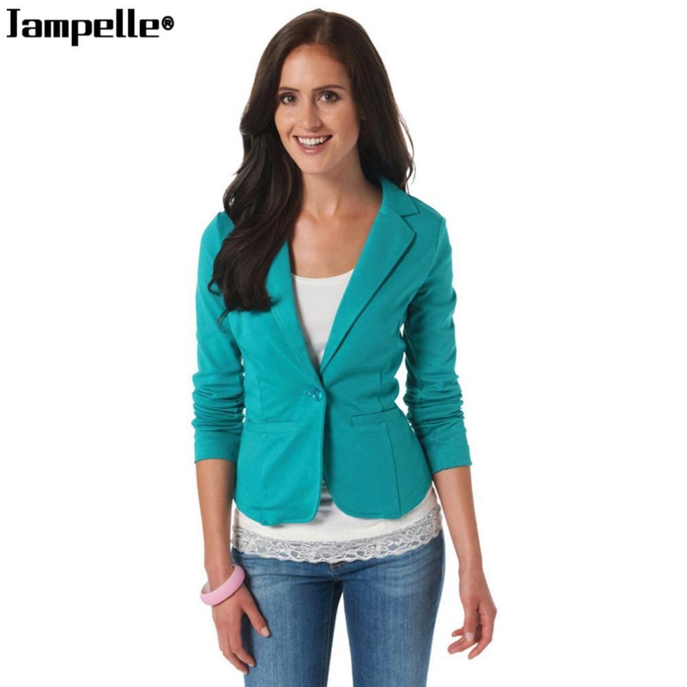 1cddc042da Compre Formal Blazer Mulheres Outono Inverno Moda Senhora Do Escritório  Estilo Doce Cor Outwear Slim Fit Casaco Jovem Elegante Jaqueta Feminina Top  S930 De ...
