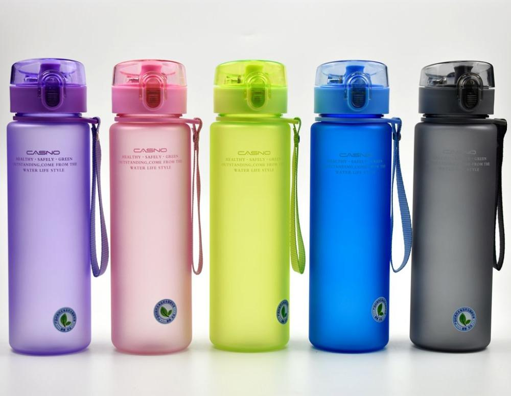 1639677117a8 Brand BPA Free Leak Proof Sports Water Bottle High Quality Tour Hiking  Portable My Favorite Drink Bottles 400ml 560ml free