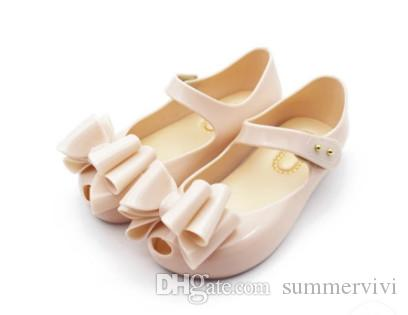 Grosshandel Melisse Jelly Schuhe Kinder Big Bows Schnallen Sandalen