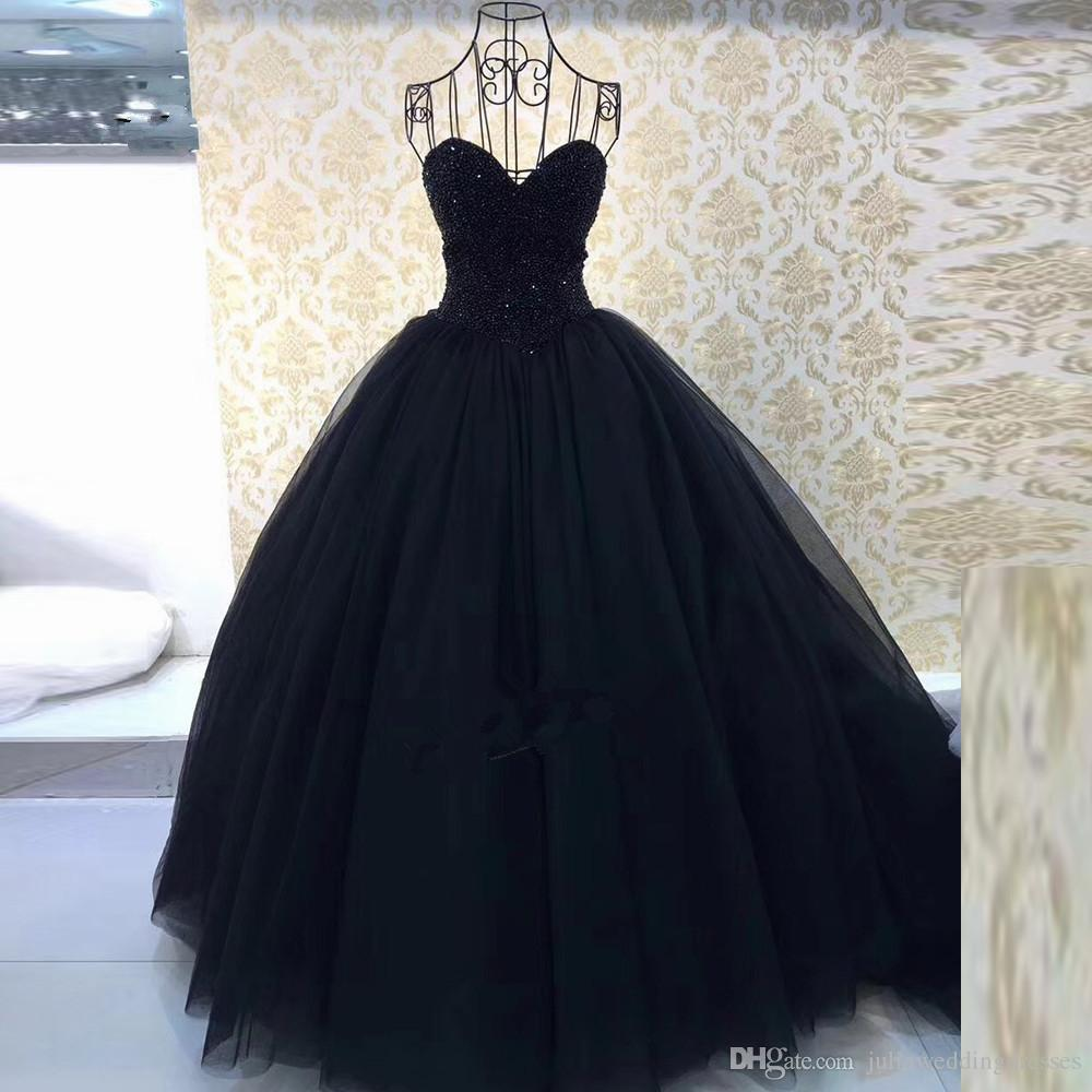 d5ec10475be6b 2018 Luxury Red Black Sweet 16 Dresses Cheap Quinceanera Dresses Vestidos  de Debutante Prom Party Gown QC1106