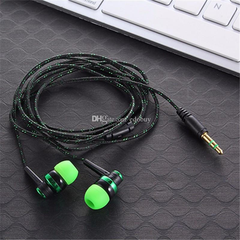 new arrival 3.5mm In-Ear Stereo braided Earbuds Earphone For iPhone For Samsung by fast shipping