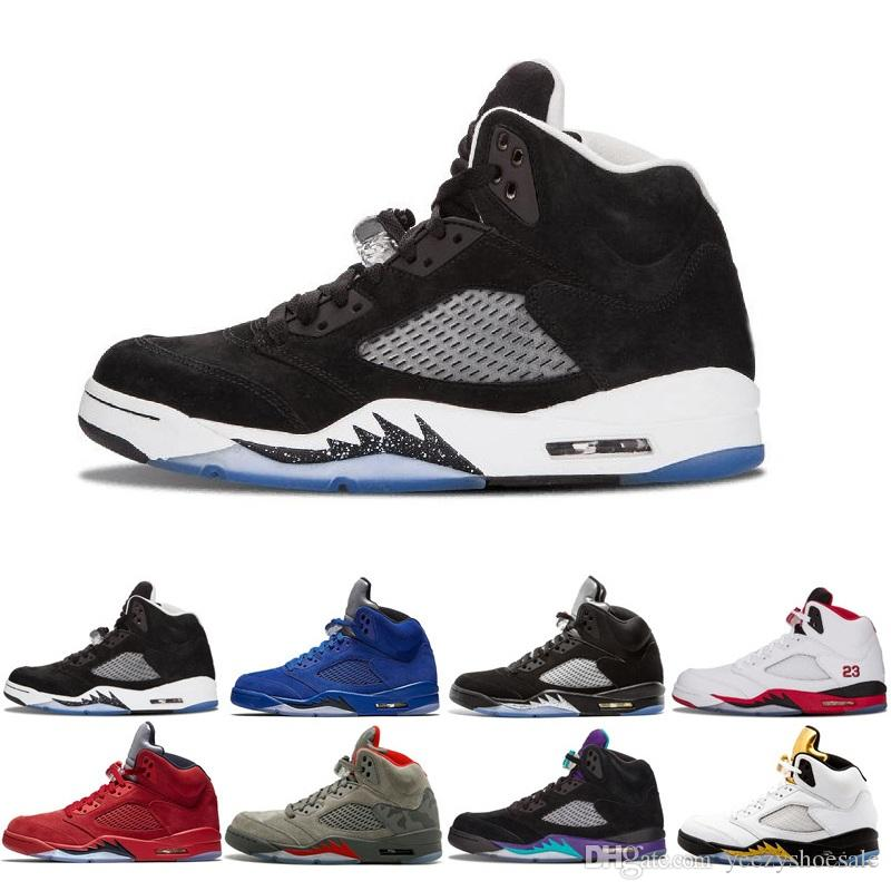 81034c7d1dc5 Best Quality 5 5S Black Metallic 3M Reflect Black Grape Oreo Basketball  Shoes Men 5s Red Suede CDP White Cement Fashion Athletic Sneakers Sport Shoes  Mens ...