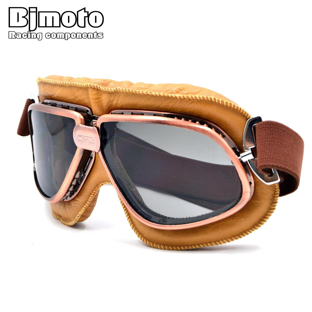 743087376739 Vintage Motorcycle Goggles Pilot Motorbike Goggles Glasses Retro Jet Helmet  Eyewear For Aviator Pilot Cruiser Cycling Bicycle Best Glasses For  Motorcycle ...