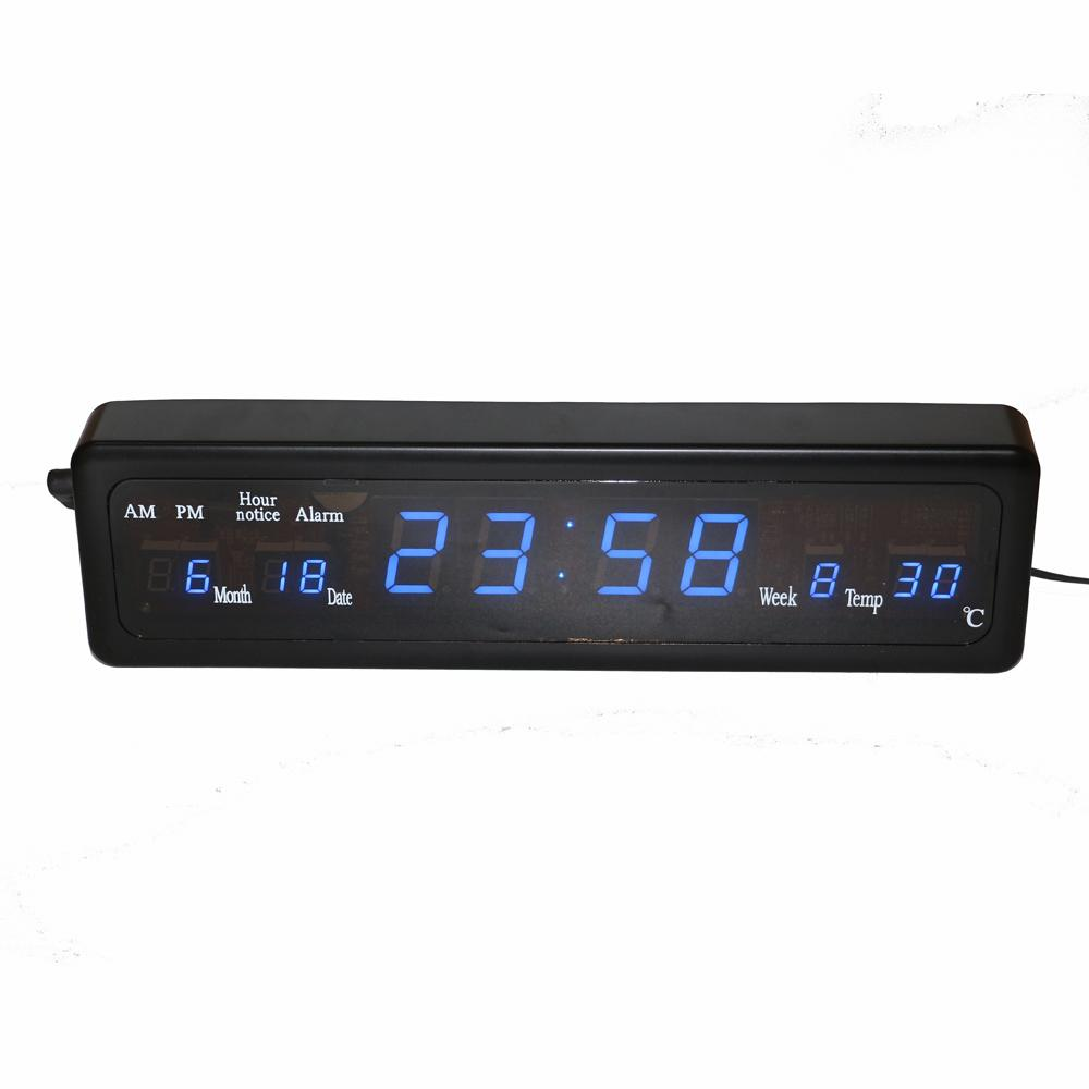 2018 Hourly Chime Desk Electronic Alarm Clock Digital Led Wall With Temperature Calendar Blue Display Table Watch Home Deco From Sshu