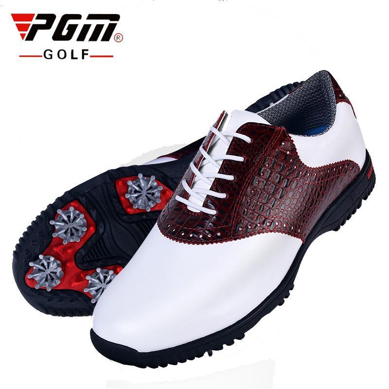 9aa6726b094e Men Golf Shoes Gentleman Genuine Leather Crocodile Pattern ...