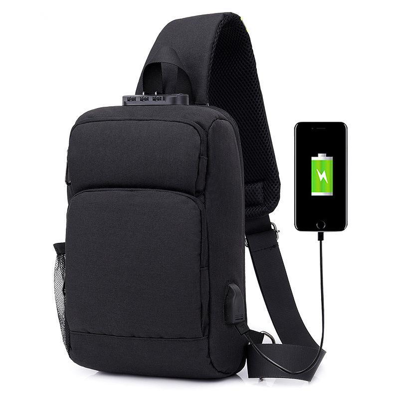 7c4c31a113fa Canvas Men Shoulder Bag Anti Theft Usb Charging Crossbody Messengers ...