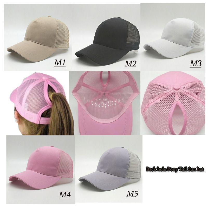 2018 Hot Women Ponytail Baseball Hat Fashion Girl Softball Hats Back Hole  Pony Tail Baseball Cap Cheap Sun Hat Canada 2018 From Trdzone f7d351e0397