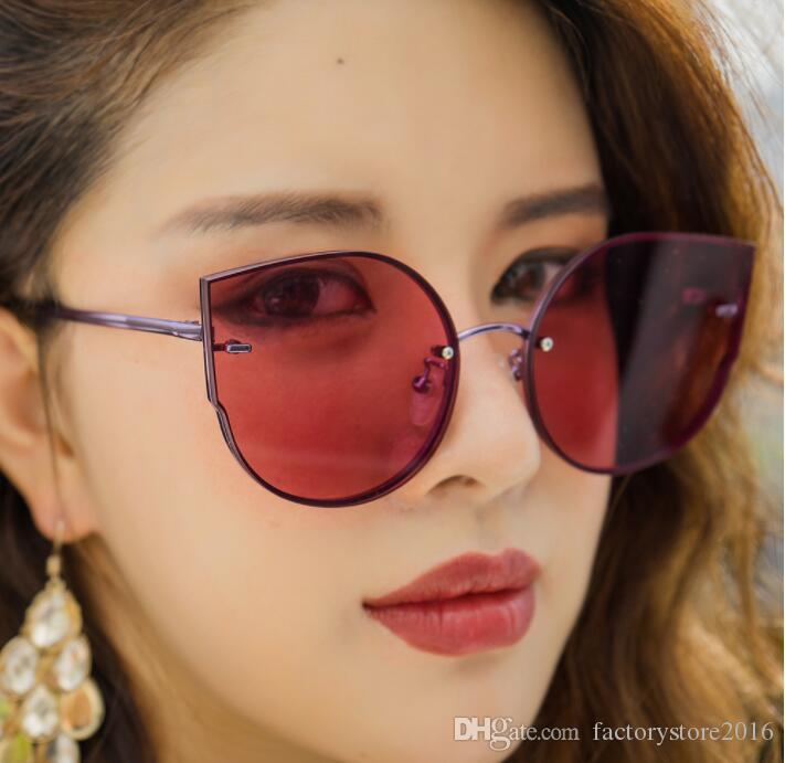 1831f289216b6 2018 Star Style Luxury Designer Sunglasses For Women Transparent Ocean  Glasses Fashion Oversized Cat Eye Retro Sunglasses Wholesale Cycling  Sunglasses ...