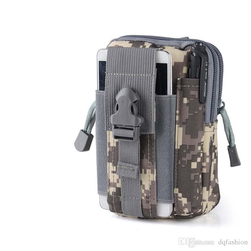 Wallet Pouch Purse Phone Case Outdoor Tactical Holster Military Molle Hip Waist Belt Bag with Zipper for iPhone/Samsung