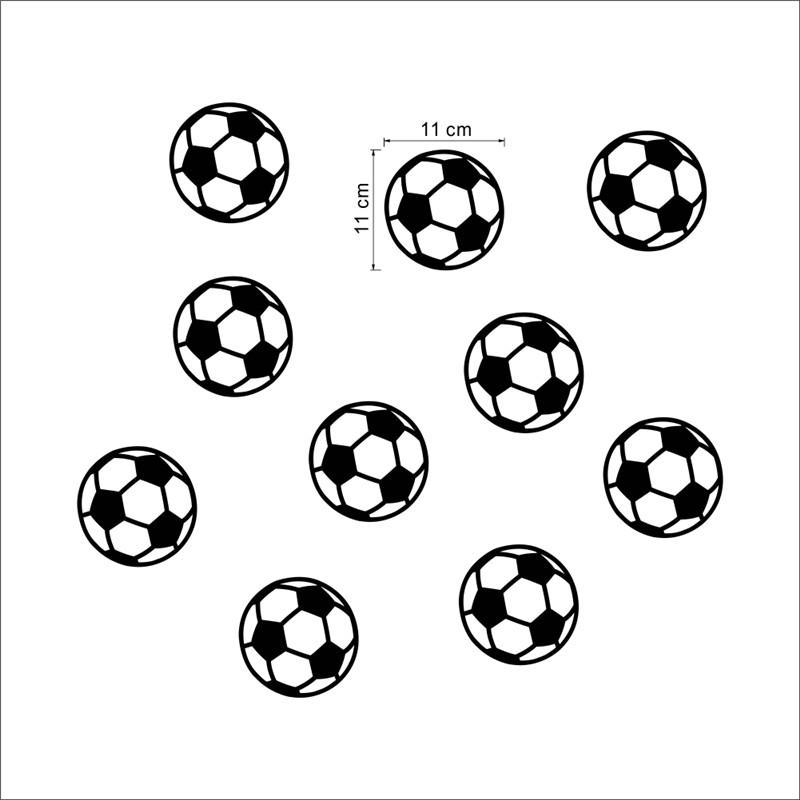 65bf28576487d Compre Para Quarto De Crianças Colorido Futebol Bola De Futebol Adesivo De  Parede Para Quartos De Crianças Meninos Quarto Arte Vinil Parede Crianças  De ...