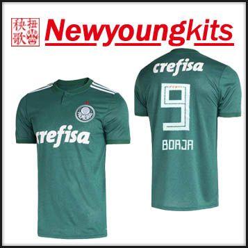1ef4cbf89d 2019 2018 19 SE Palmeiras Home Green Jersey JESUS Football Shirt BORJA  LUCAS LIMA DUDO ALLIONE CLEITON Soccer Shirt From Newyoungkits