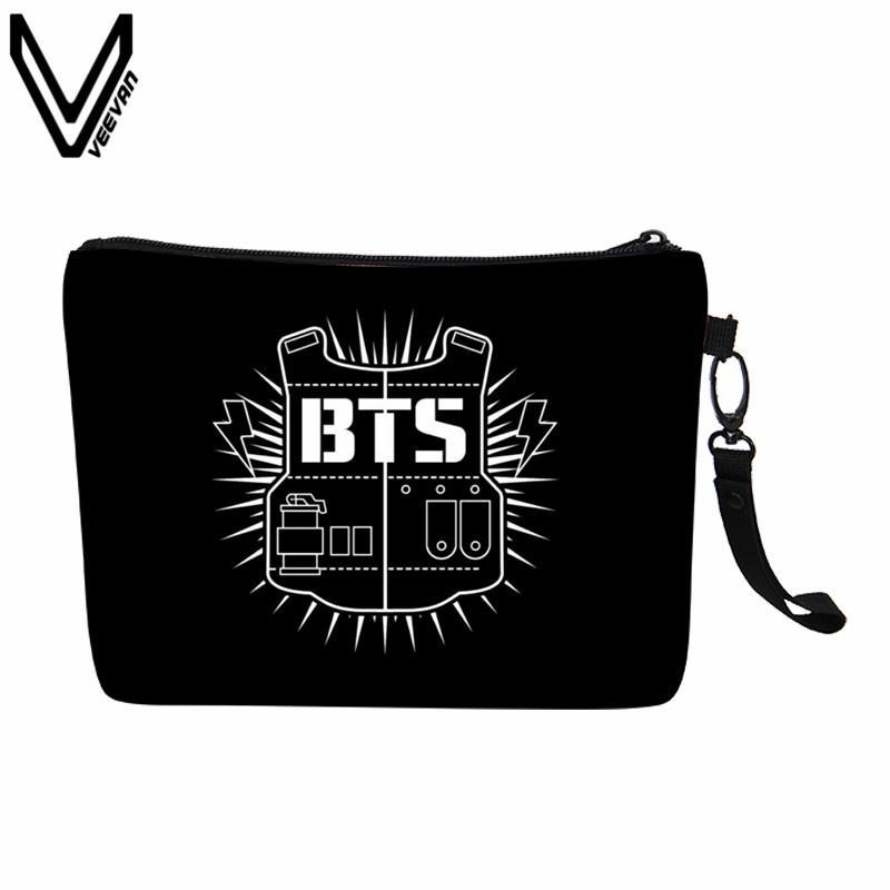 2019 Veevanv New Fashion Bts Canvas Simple And Light Makeup Bag Kpop