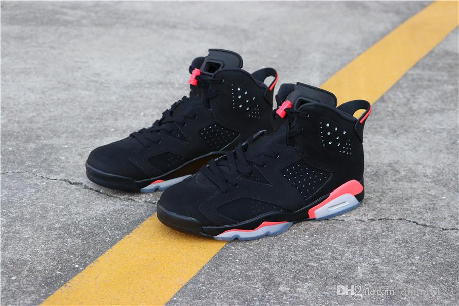 dd3a7775eb72 Best Quality 6 Black Infrared VI Bred Men Basketball Shoes Sports 6s  Outdoor Fashion Trainers Sneakers Size 8 13 Kd Basketball Shoes Shoes On  Sale From ...