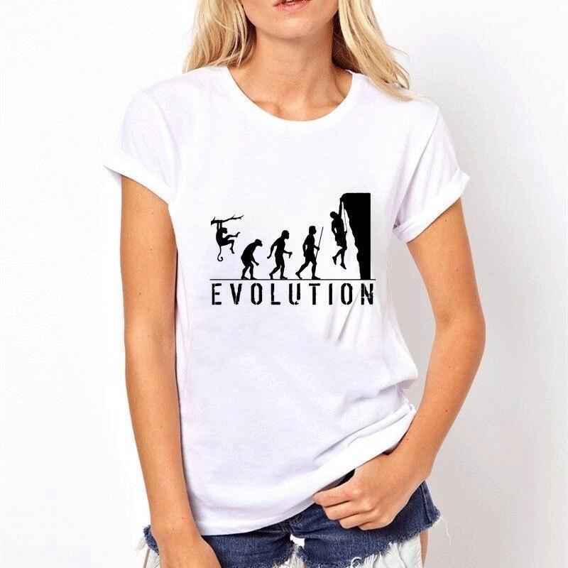 14838f3e2f6984 Acquista Arrampicata Su Roccia Divertente T Shirt Donna Estate Femminile  Stampata Su Misura Tops Di Alta Qualità Tee Modello Da Donna In Cotone  Stampa 3d ...
