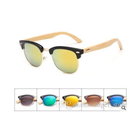 Compre Meia Moldura De Bambu Sunglass 2018 Moda De Madeira Óculos De Sol  Mulheres Óculos De Sol Óculos De Sol 1505 Óculos De Sol De Angel store, ... 61df8ec1cc