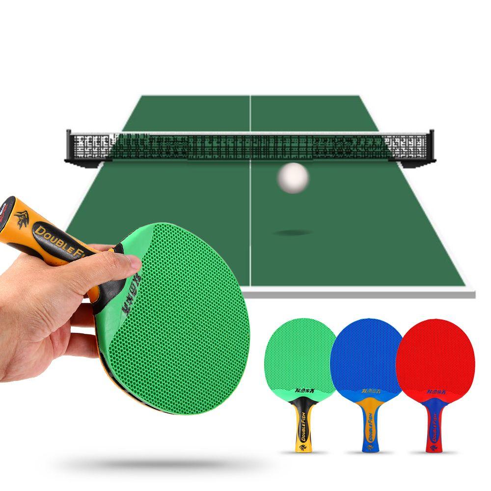 cb3f1b627 Compre 2018 Duplo Peixe Longo Lidar Com Ping Pong Raquete Dupla Face  Raquete De Tênis De Mesa Remo De Plástico De Borracha Tênis De Mesa Bat Remo  De ...