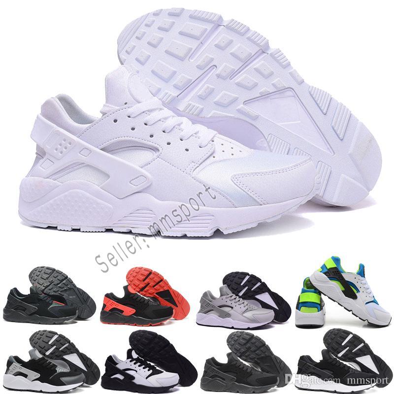 new style a49be 8a42b ... czech acheter nike air date air huarache i chaussures de course pour  hommes femmes vert blanc