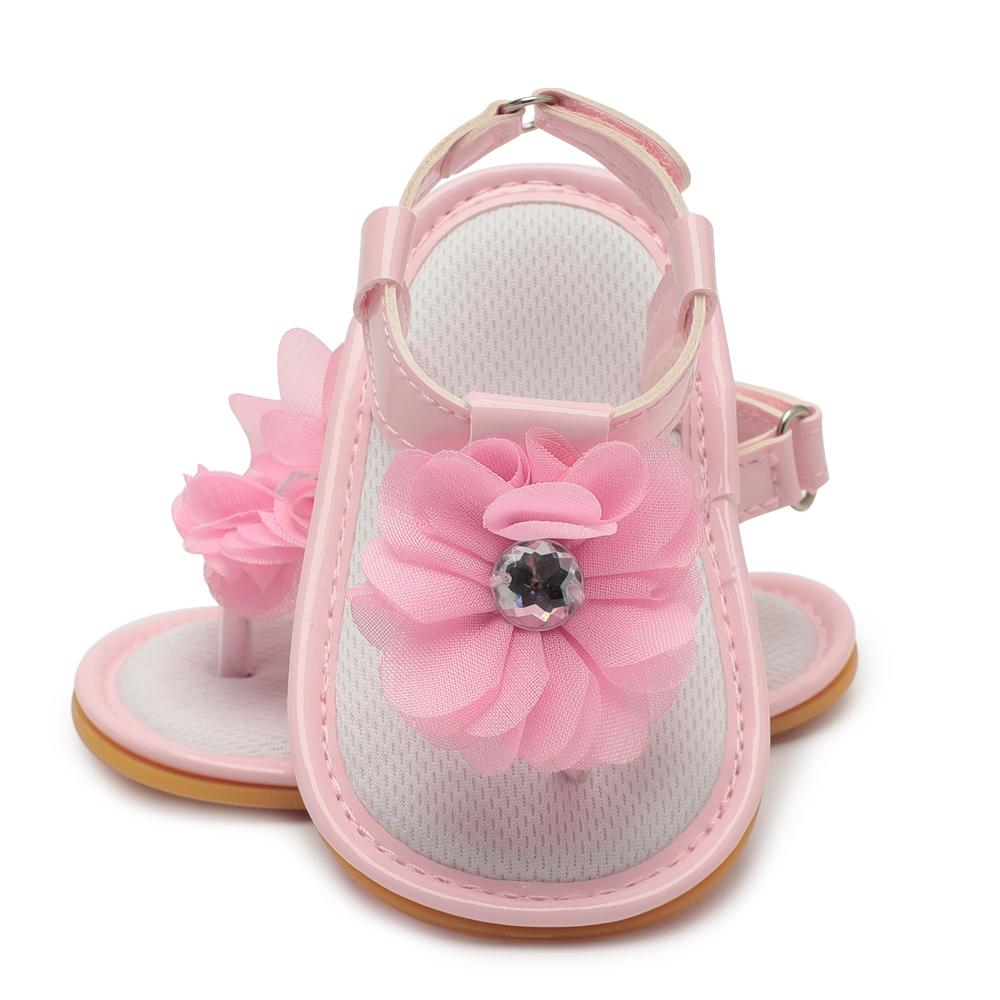 f802380f1d8 Acheter Bébé Fille Sandale Chaussures Été Nouveau Né Mignon Fleur Noeud De  Cuir PU Adorable Anti Dérapant Chaussures De Bébé Chaussures Pour Filles  Bebes ...