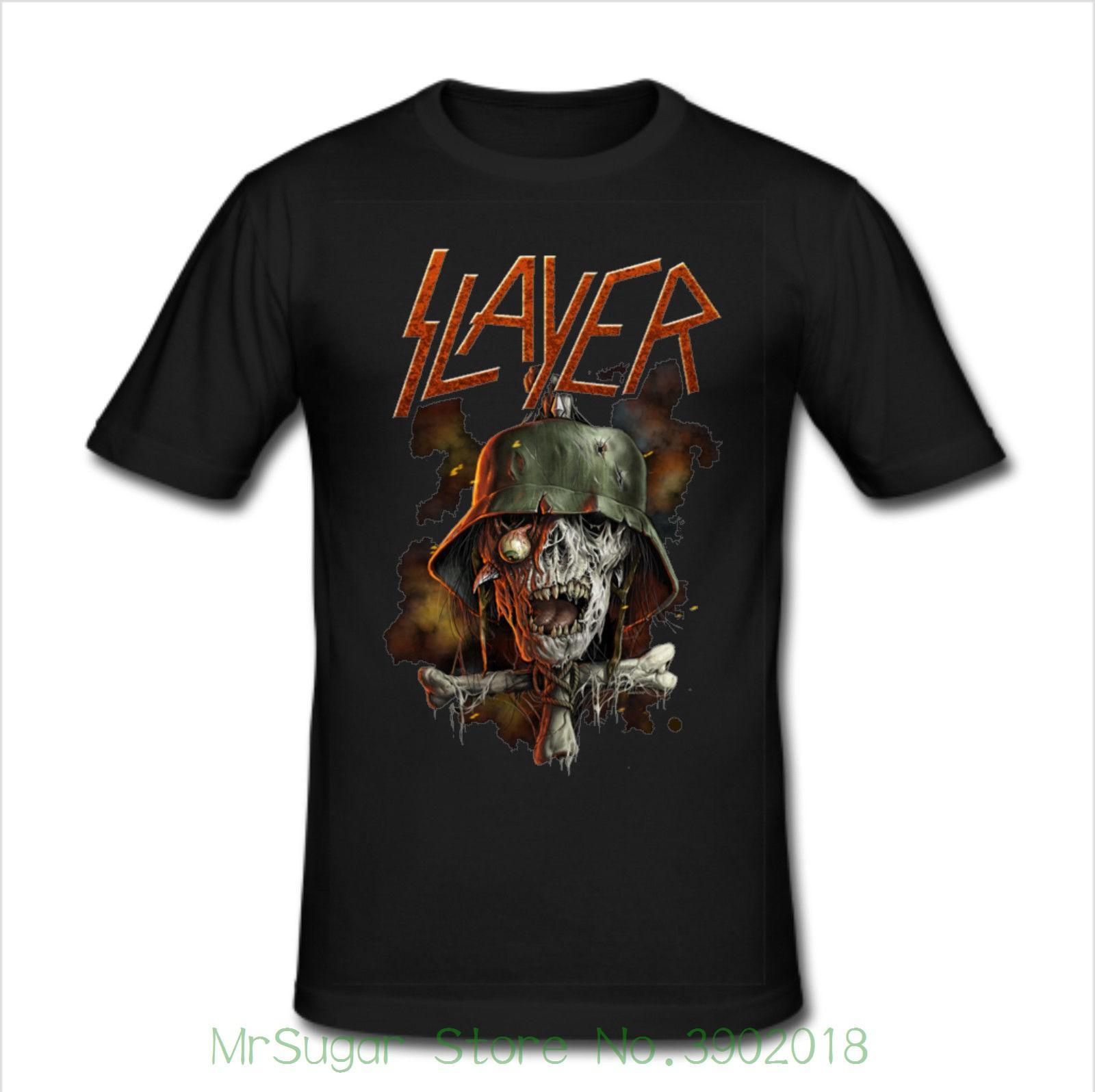 8ca9e880379d Men's Slim Fit T Shirt Size Xl - Thrash Metal Band Print T Shirt Fashion  Short Sleeve