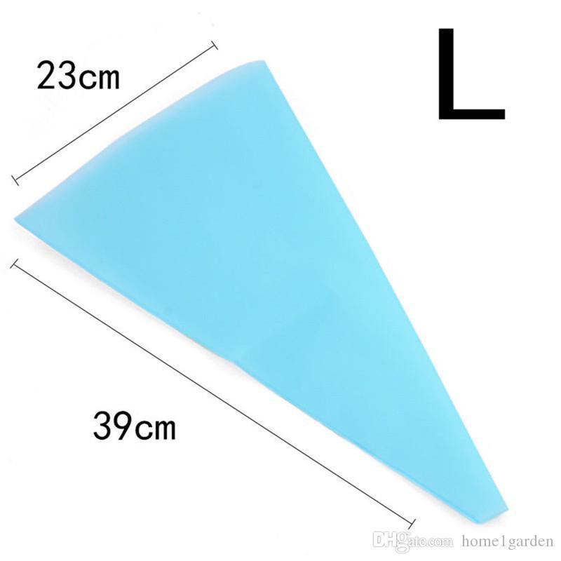 سيليكون أدوات تزيين حقيبة الكعكة مجفف الكورية الخبز مع 3 الحجم الغذاء الآمن اللون الأزرق