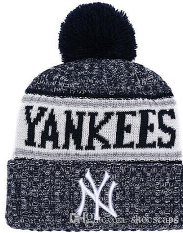 af0b9257a9 Discount NY Beanie Sideline Cold Weather Graphite Official Revers Sport  Knit Hat All Teams winter Warm Knitted Wool Skull Cap