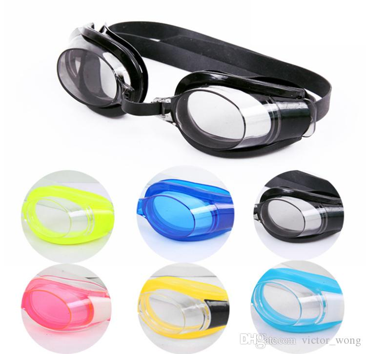 Yüzme Gözlüğü Açık Şeffaf Yüzmek Gözlük Hiçbir Sızıntı Anti UV Koruma Su Geçirmez 6 Renkler Ile Yüzme Gözlük